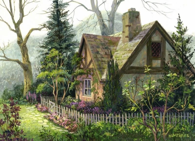 nuevos-paisajes-campestres-con-casas-viejas-arte-al-óleo