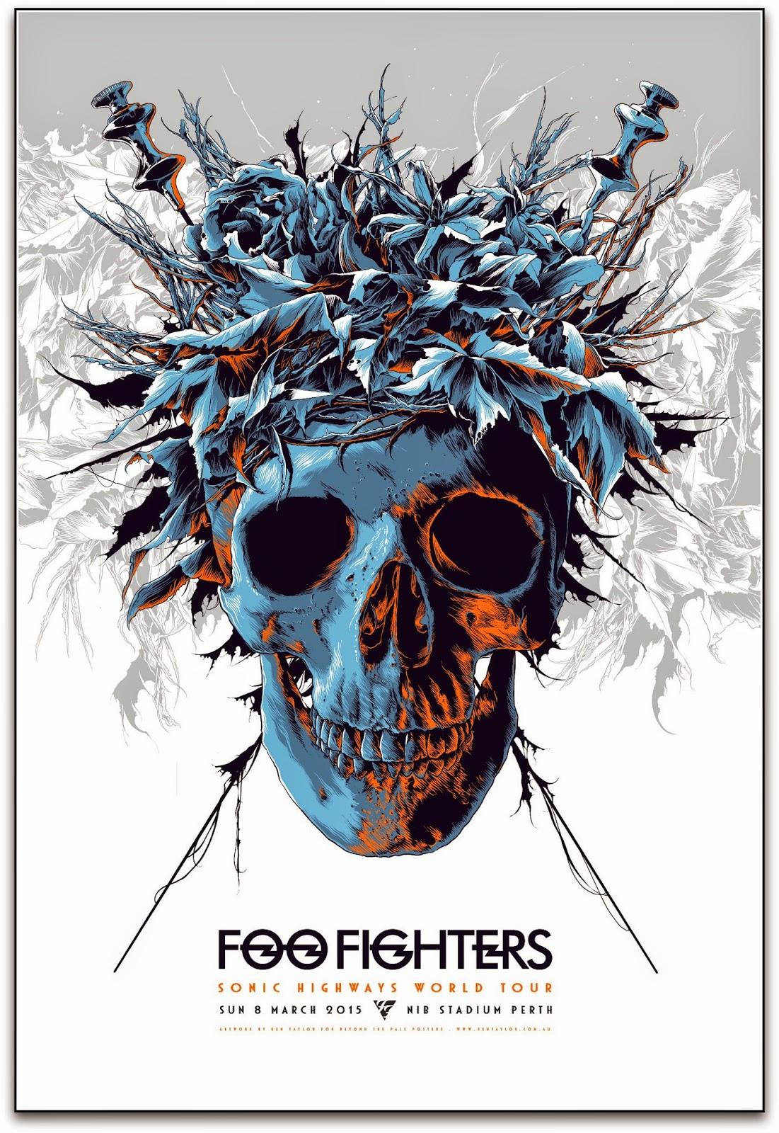 inside the rock poster frame blog foo fighters ken taylor