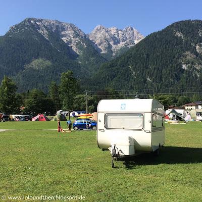 Alter Wohnwagen / Berge / Knaus Passat / Vintage caravan