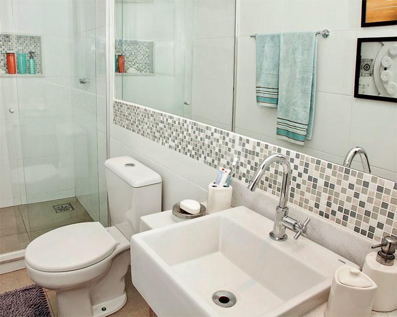 Cantinho da Cher AMBIENTE Fotos de decoração de banheiros pequenos -> Banheiro Pequeno Funcional