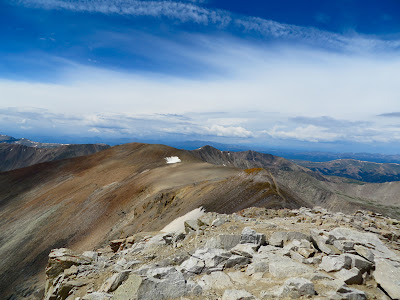 The summit of Mt. Lincoln, one of Colorado's 54 14ers