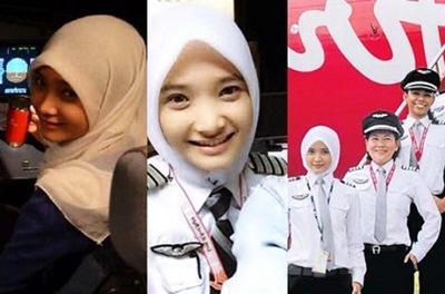 Melihat Lebih Dekat Pilot Cewek AirAsia Yang Cantik
