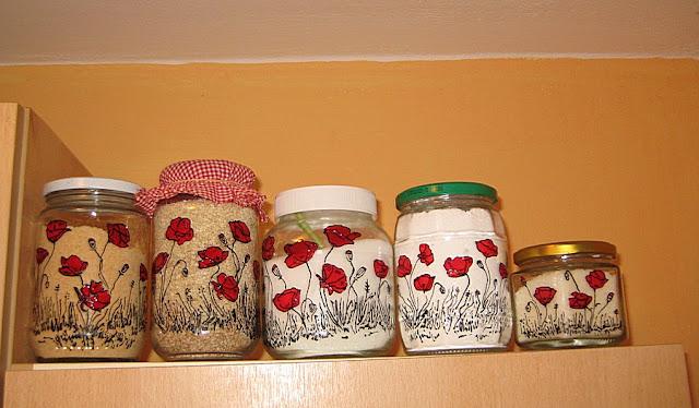 Painting On Glasses: Idea For  Spring In Your Kitchen, Slikanje na staklu ideje