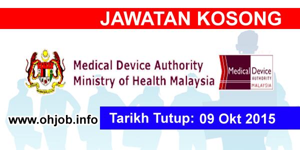 Jawatan Kerja Kosong Pihak Berkuasa Peranti Perubatan Kementerian Kesihatan Malaysia logo www.ohjob.info oktober 2015