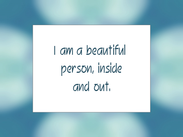 BEAUTY affirmation