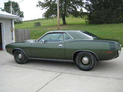 1970+Plymouth+Hemi+Cuda+Dark+Green+Left+