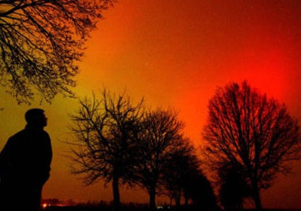 solar storm seen on earth