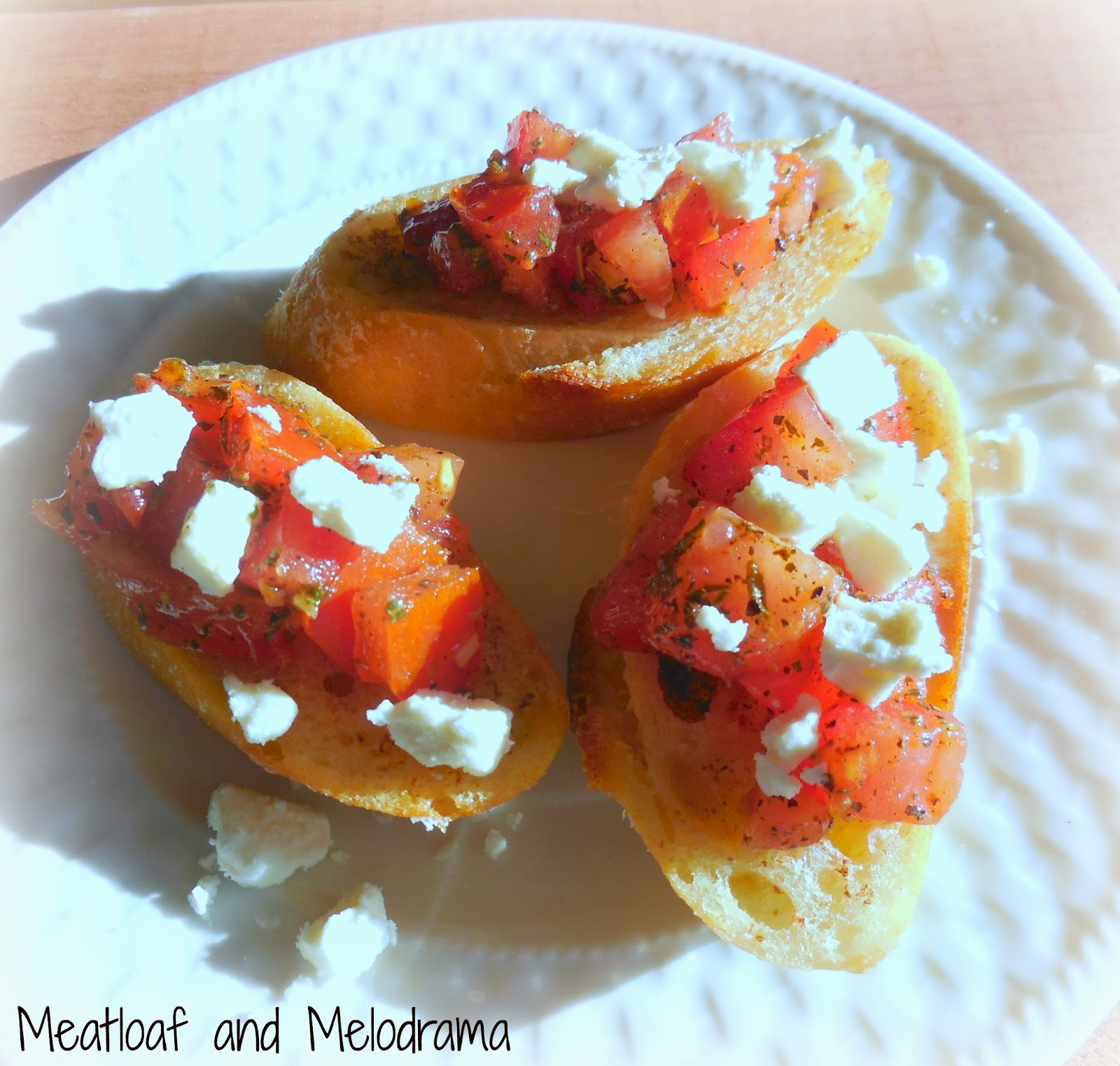 tomato bruschetta with feta