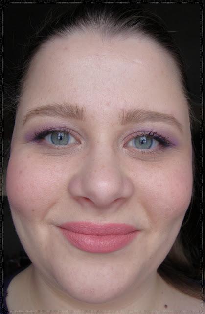 svakodnevni make up ljubicasta i roza