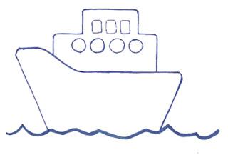 корабль рисунок