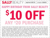 May/June Sally's Coupon