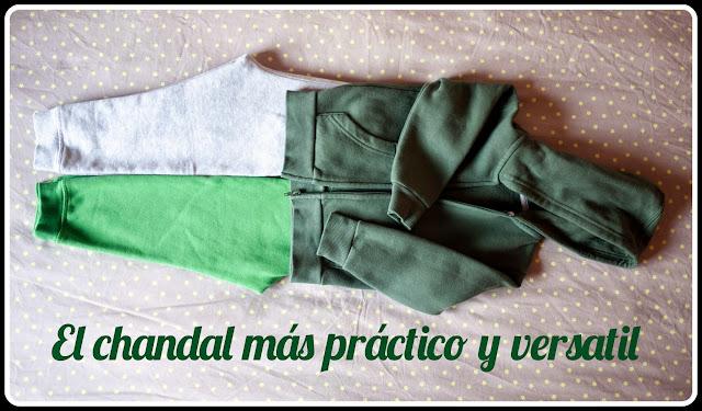 Sudadera chaqueta con capucha conjuntada con dos pantalones de chandal