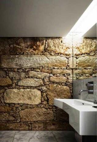 contoh foto desain kamar mandi batu alam