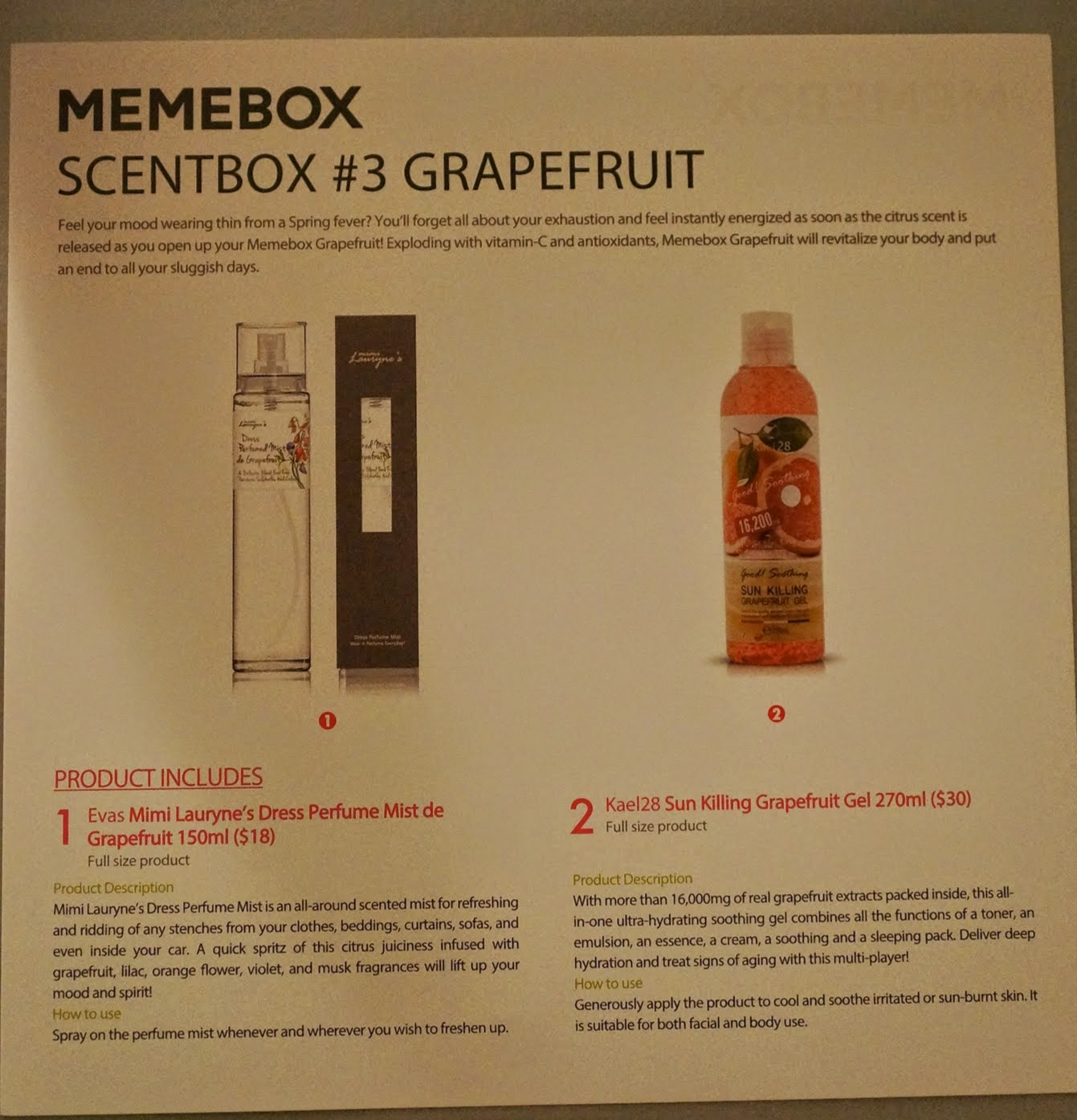 Memebox Scentbox 3 Grapefruit Unboxing Review