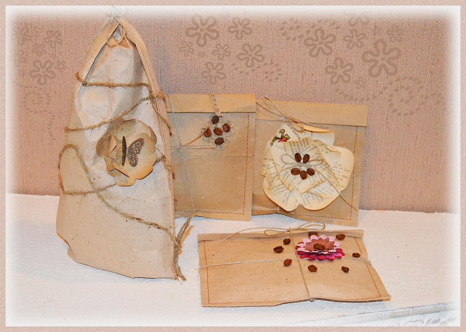 подарочная упаковка из оберточной бумаги