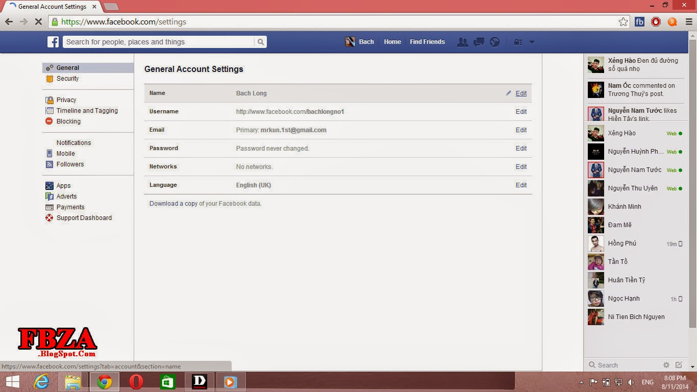 how to change your last name on facebook mobile