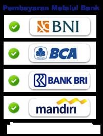 Pembayaran ditranfer melalui Bank :
