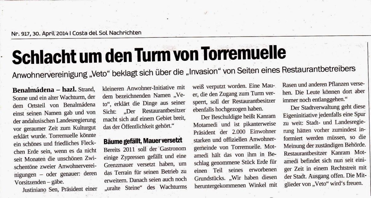 La prensa alemana se hace eco de los problemas de la Torre.