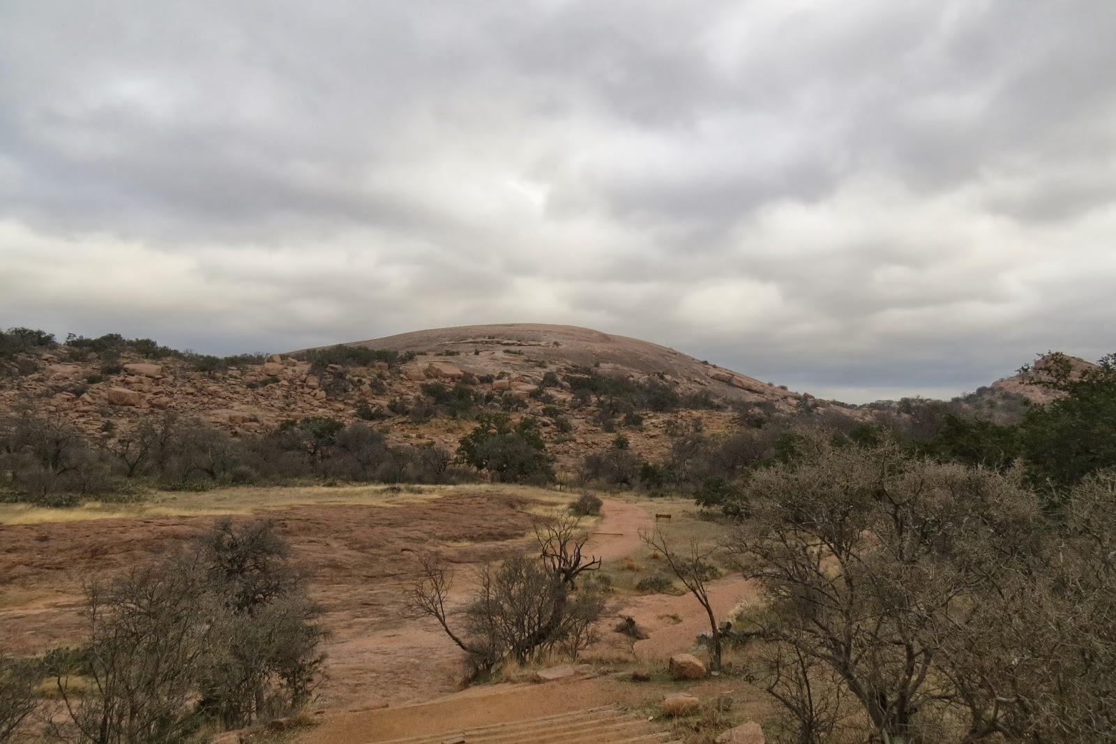 Enchanted Rock State Park, Texas - a large granite batholith