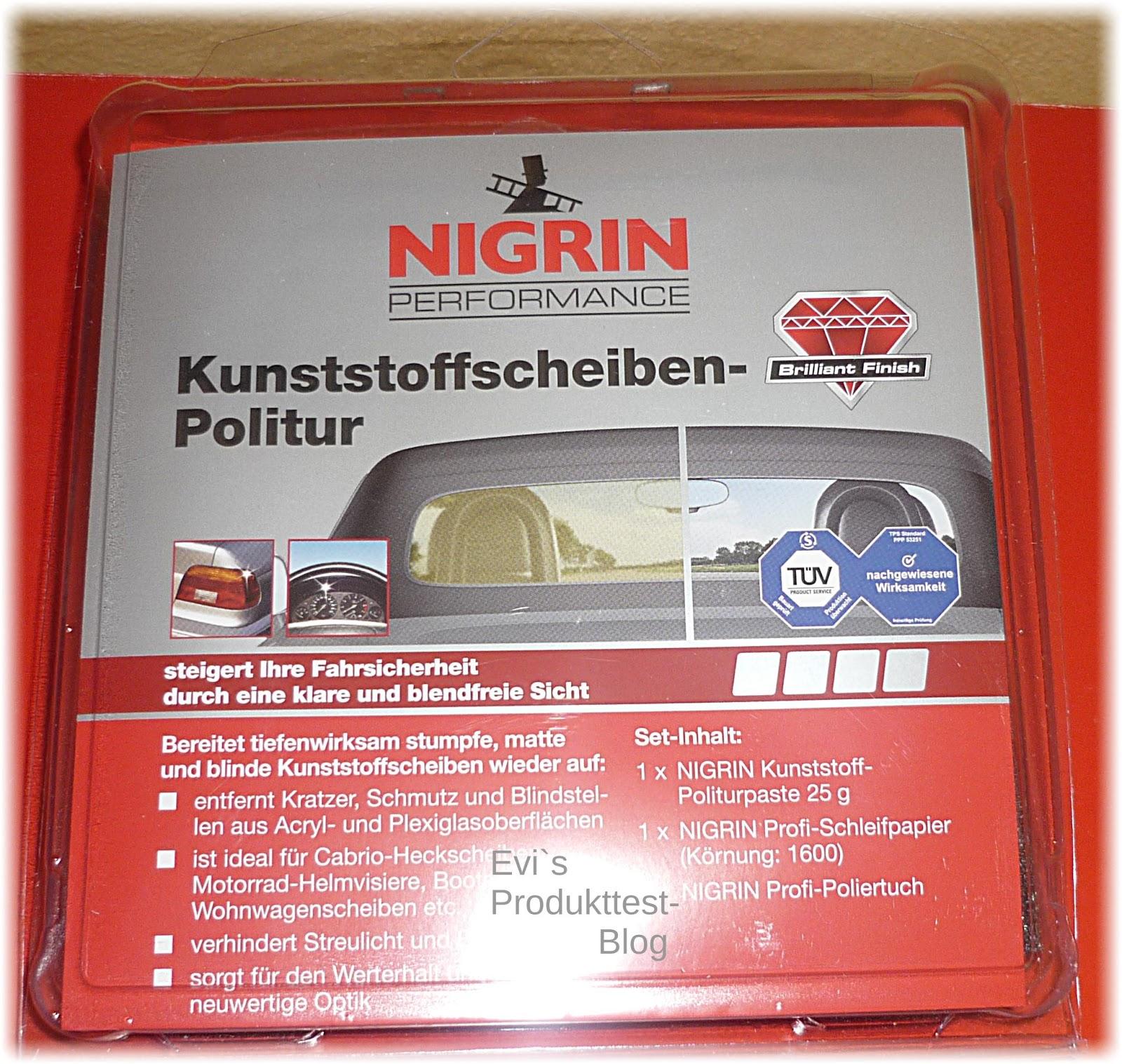 evi s produkttestblog nigrin autopflege produkte im test. Black Bedroom Furniture Sets. Home Design Ideas