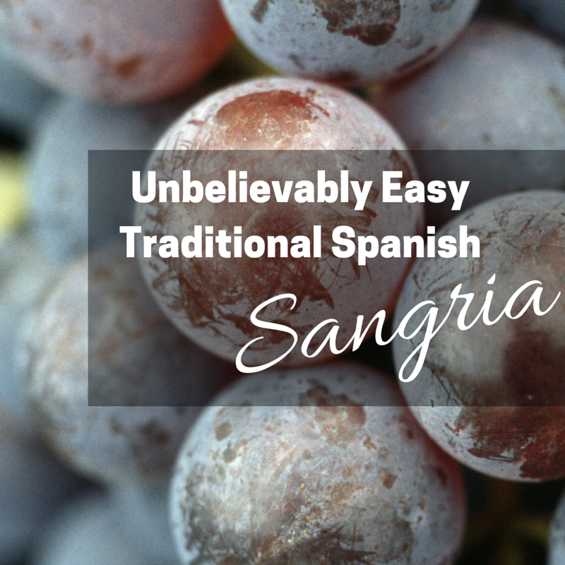 Unbelievably Easy Traditional Spanish Sangria Recipe (+ Freebie!)