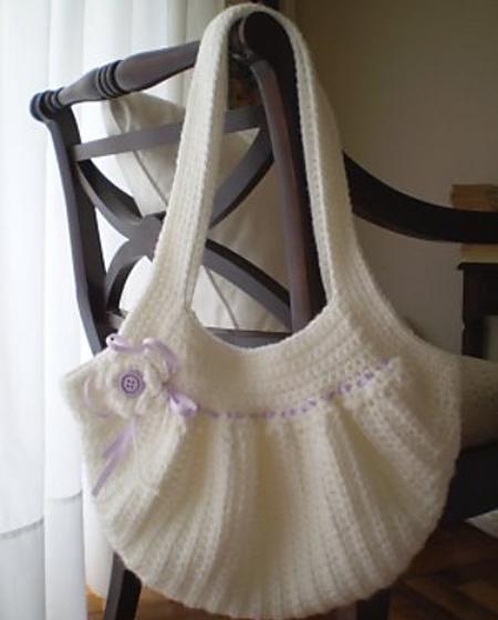 Bolsos a Crochet con detalle en Flores
