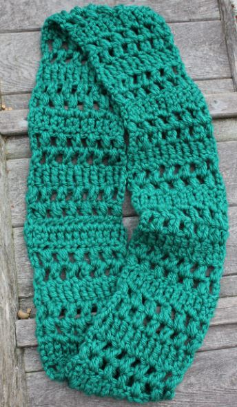 Crochet Patterns K Hook : Skein and Hook: Free Crochet Pattern: Benson Infinity Scarf