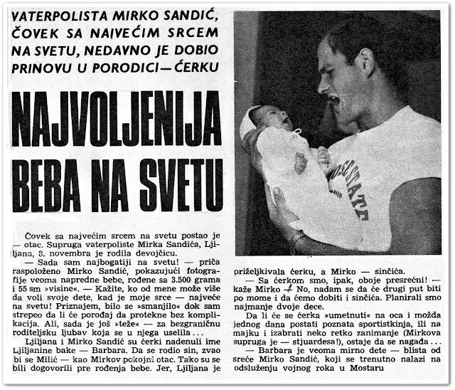 Mirko Sandic, jugoslovenski vaterpolo, šezdesete, sportista, novinar