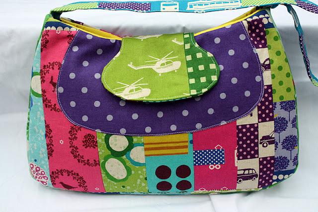 Сшить пляжную сумку в стиле пэчворк 84