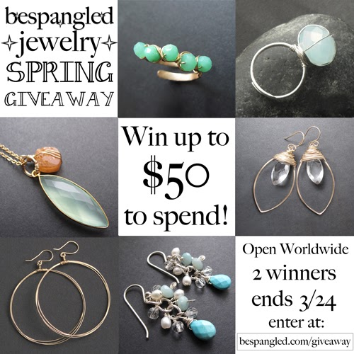 Bespangled Jewelry huge spring giveaway! Win up to $50 spending credit