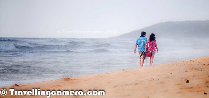 When we were in Goa during monsoons, we stayed around Candolim Beach which was suggested by one of my friend. So we spent most of the time around Candolim Beach. In fact, during the 5 days stay we found Candolim beach as best place in northern part of Goa. This Photo Journey shares some of the beautiful hues from Candolim beach during early mornings and late evenings.Candolim is a small town in Northern part of Goa. Candolim is situated just adjacent to the famous Calangute beach and also a popular tourist destination. There are some very good places to stay around Candolim Beach. We stayed at Golden Tulip, which was not very close to the beach but a good hotel to stay. One good options around Candolim beach are - Lemon Tree, which strategically located on the main road where Candolim market is located and quite close to beach as well. Fortune Resort, which is close to Golden Tulip. During the stay, we used to go to Candolim Beach almost every evening. One of the main motivation to visit Candolim beach was 'Sunny Side Up' restaurant there. This place offers great sea food and I strongly recommend the prawn biryani here. Overall, we were very impressed with the crowd on Candolim beach as compared to other beaches. Since, quality of hotels around Candolim is really good, this  keeps overall environment great. During the monsoons, beach had hardly any commercial activity. There were only two places to eat on the beach. Candolim beach is one of the cleanest beaches in North Goa.On the first day, we thought of going out to buy some basic stuff to eat and spent some time in Candolim market. This area has quite good options for  eating out, buying liquor and other stuff for day-to-day usage. Markets in goa are usually closed during the daytime and evening is best time to go to the markets and do shopping. Even restaurants were closed during the daytime and used to open at around 7pm for dinner. Probably this happens during the monsoons, but in general evenings & nights are more happening in goa as compared to daytime.Candolim beach in itself is very calm and peaceful... Overall the beach is very beautiful with clean and green landscapes around it. The orangish yellow sand on Candolim beach looks awesome during sunset time and monsoon time was best to witness awesome huesPanjim, the Goan capital, is around 15 kilometers from Candolim beach. Fort Aguada is quite near to the Candolim Beach and this beach merges with Calangute beach. Candolim beach is considered as one of the longest beaches in Goa and located in the Bardez taluka. Market around Candolim beach is located on Candolim Calangute road, which has various super-marts, restaurants, bars etcThough the beach is close to one of the most crowded Calangute beach, life is rather laid back at Candolim and I personally loved that. There is a village around this place but not very clustered. Candolim beach has quite a number of inns at reasonable prices with good facilities, but have no clue about the quality of stay they offer.  Candolim beach is free of any commercial activity apart from some water activities, which usually happen during main tourist season. During monsoons, there was hardly any activity around the beach but personally I liked the beach without all that.Candolim Beach is one of the most popular beaches to explore in North Goa. Candolim has become my most favorite beach in Goa. Candolim beach is supposedly frequented mainly by Europeans hence all the shacks, restaurants, markets and everything else has that European touch in it.Candolim beach is the same beach that hosts Sunburn festival every year. The best nightclub in this area is the newly opened F Beach club by DJ Aqeel.. Although there are few more popular clubs around this place.If you looking for a beach to spend time with family/friends, Candolim beach is the best of all beaches in North Goa. Clean, quiet, safe, nice waves & colorful views throughout the day, especially during evenings.We had awesome stay around Candolim beach and it's probably the best place to stay in North Goa. Next time, if I plan to stay on North Goa, I will definitely choose Candolim beach. Although I would prefer to try new place in South Goa :) ... We shall be sharing few more Photo Journeys from Goa during next week, so keep watching this place for more interesting stuff from Goa.