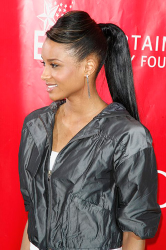 Weave Pony Tails with Bang Hairstyles