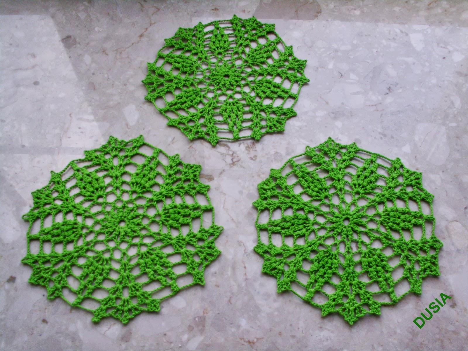 Podkładki zielone