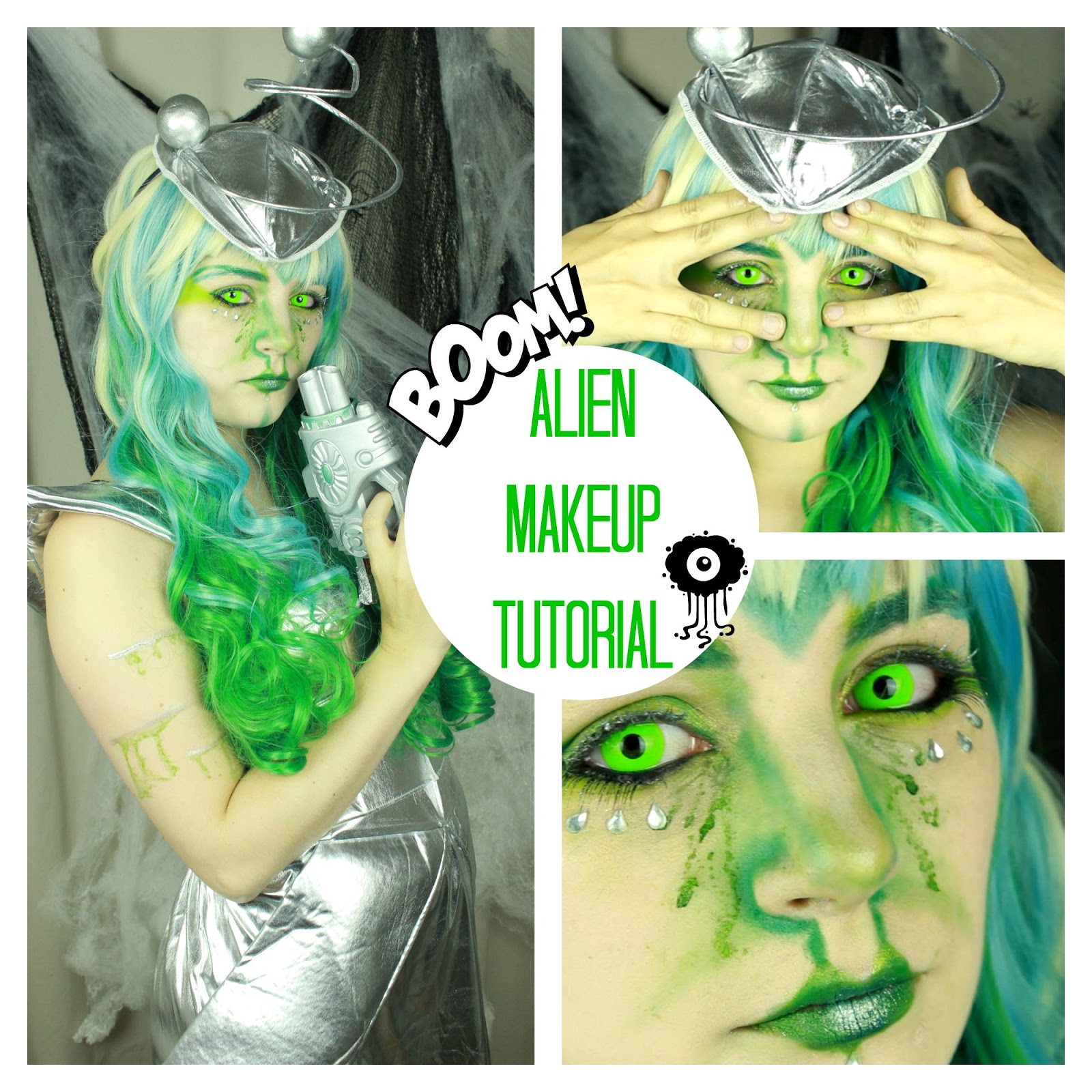 Rain Bows And Fairytales Alien Halloween Makeup