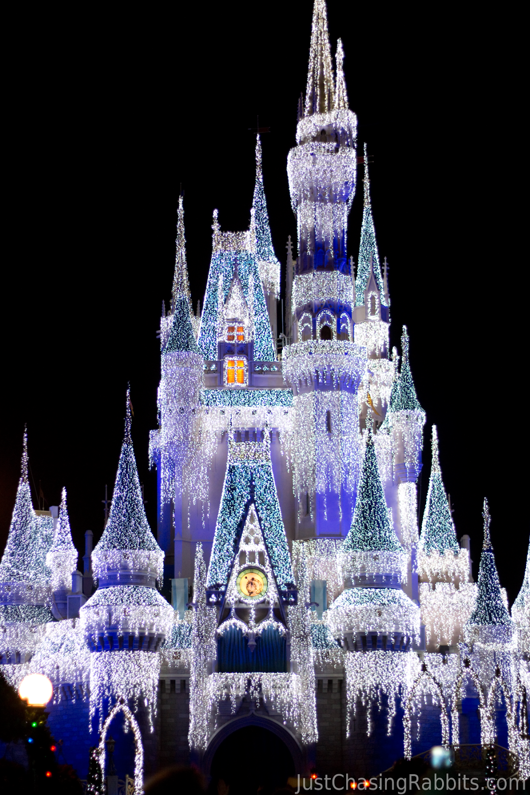 Disney World Christmas Cinderellas Castle