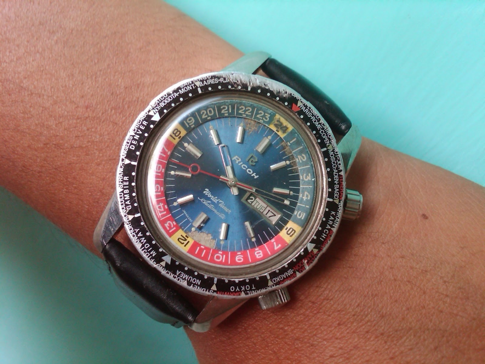 a watch steel time worldtime photo automatic sportwave ebel gmt world watches winding ref wrist man