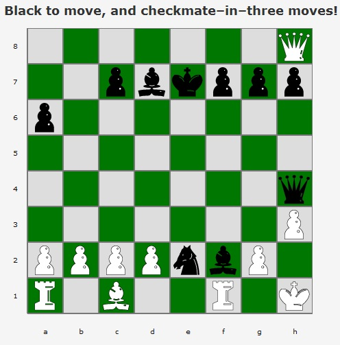 how to get chess mate in 3 moves