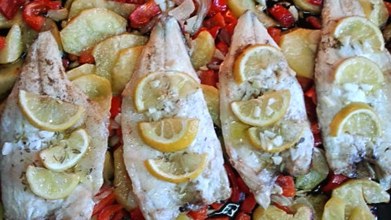 Lubina al horno, pescado al horno