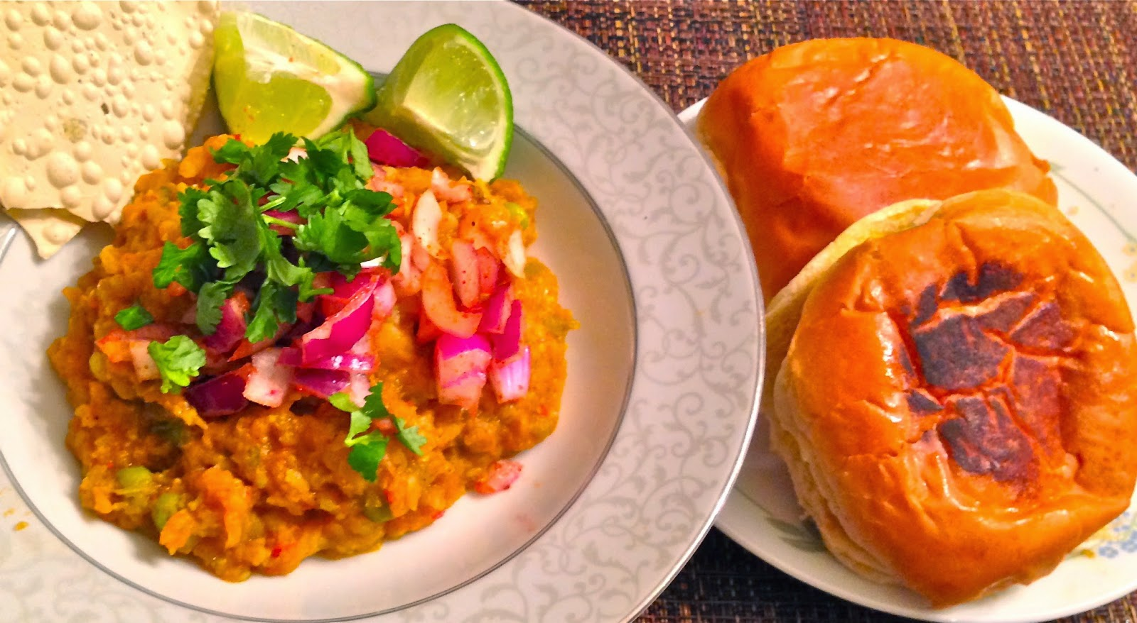 Pav Bhaji, a blend of vegetables cooked in tomato gravy