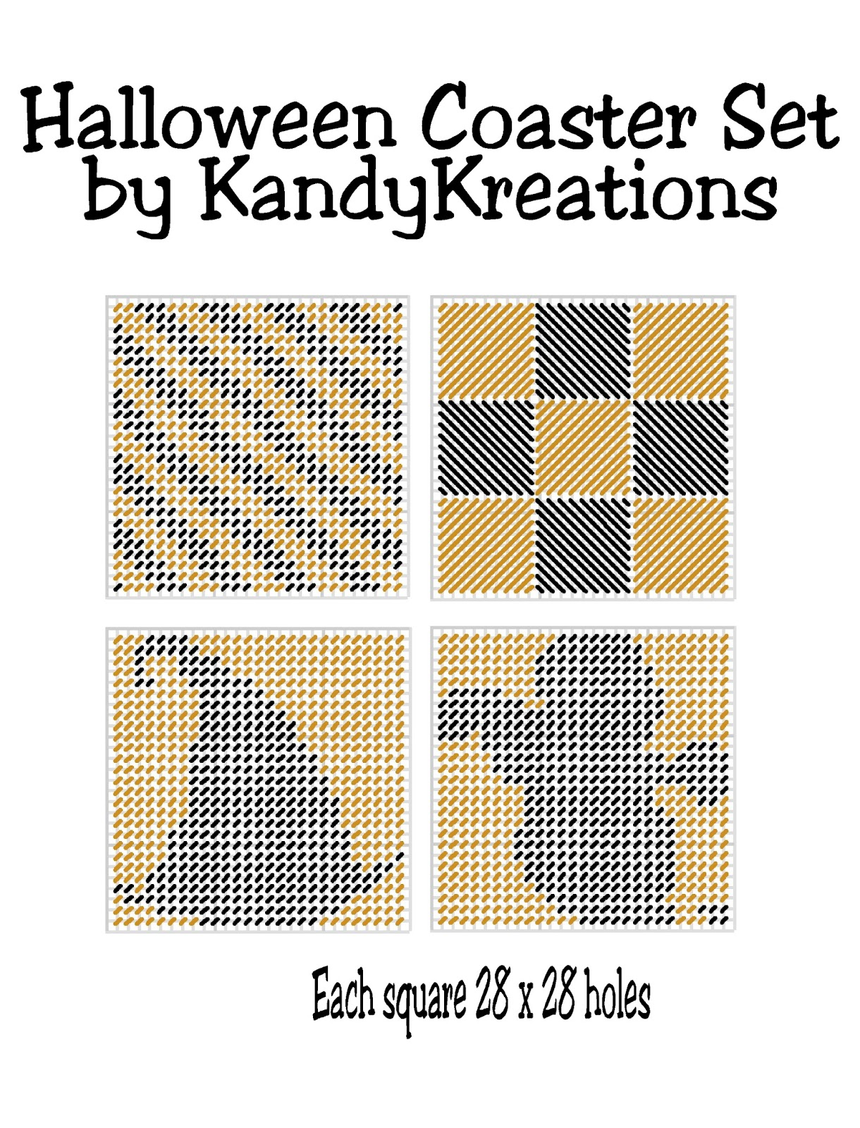 This is an image of Transformative Free Printable Halloween Plastic Canvas Patterns