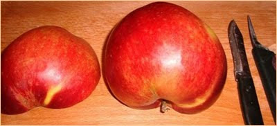 ябълка на две половини