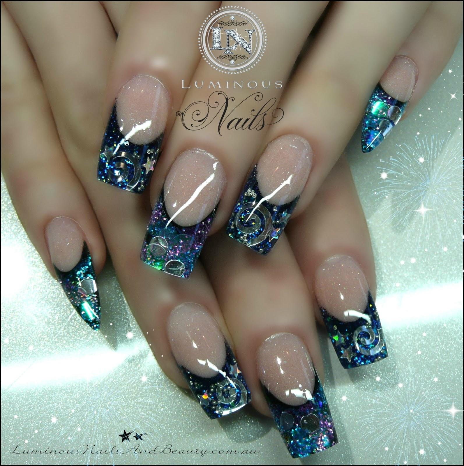 Royal Blue Stiletto Nails