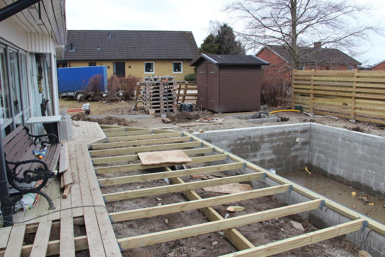 kostnad bygga pool med trädäck