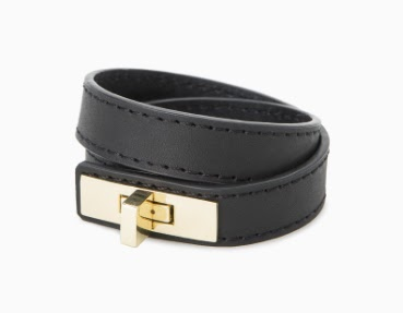 Mango Faux Leather Bracelet