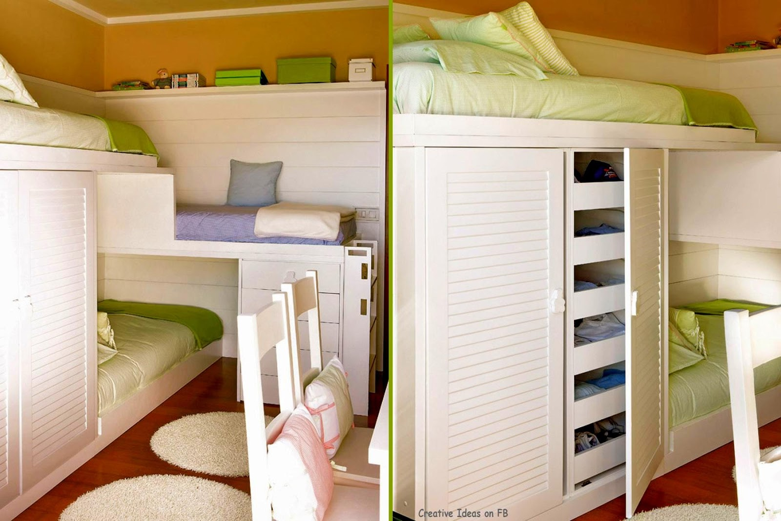Simple Bunk Beds Twin Wite