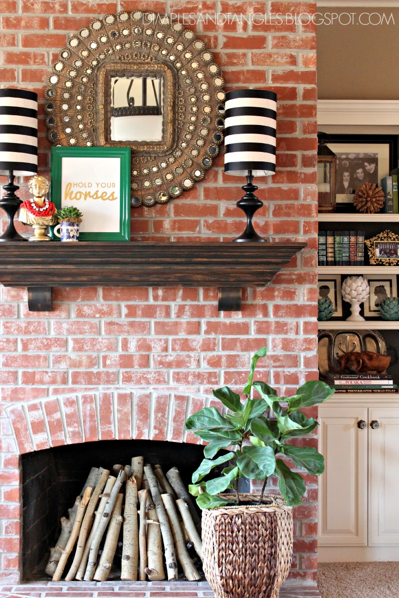STYLING A FIREPLACE MANTLE WITH A TV - Dimples and Tangles