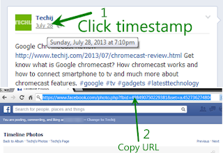 Steps to copy link of any facebook post
