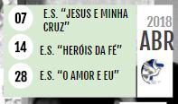 || PROGRAMAÇÃO ABRIL
