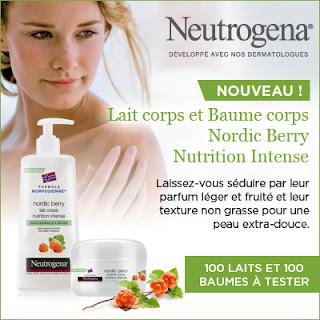 Test Produit 100 lots de la gamme corps Nordic Berry de Neutrogena à tester !