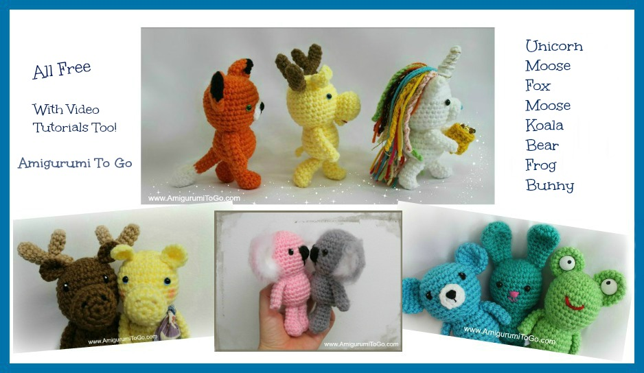 Amigurumi I To Go : Wee Amigurumi Animal Patterns All Free ~ Amigurumi To Go